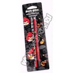 Карандаши чернографитные Angry Birds 2 шт