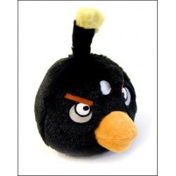 Птичка черная Игрушка Angry Birds плюшевая.