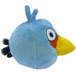 Птичка голубая Игрушка Angry Birds плюшевая.