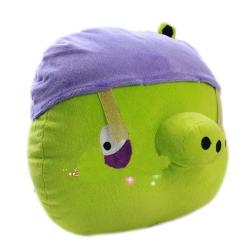 Свинка в шлеме Игрушка Angry Birds плюшевая.